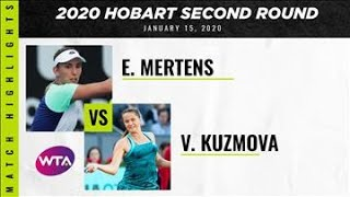Elise Mertens vs. Viktoria Kuzmova | 2020 Adelaide International Second Round | WTA Highlights
