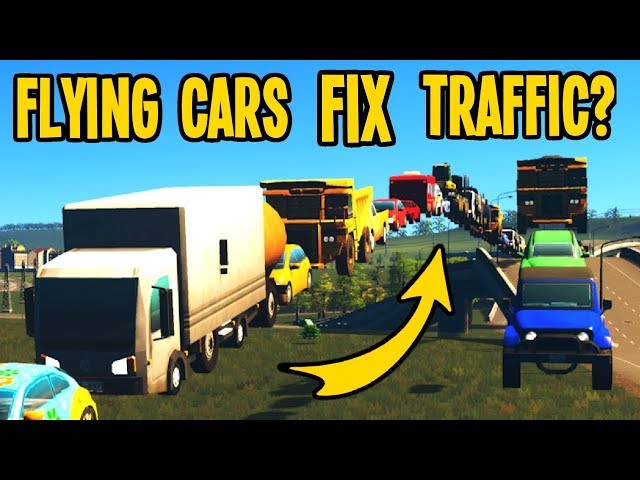 Traffic so Terrible the Cars FLY AWAY to Escape in Cities Skylines!