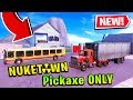 PICKAXE ONLY CHALLENGE in NUKETOWN (Fortnite Creative Mode!)