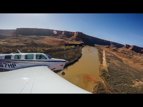 Dirt Runway at the Bottom of a Canyon