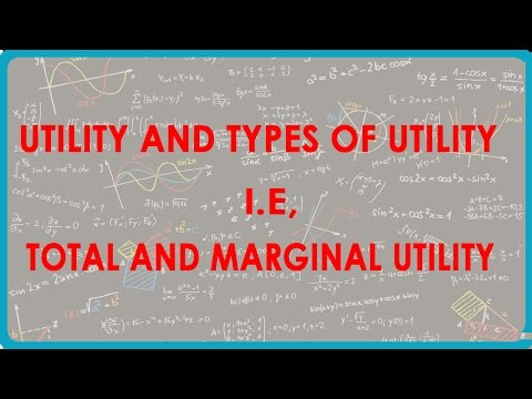 1142.CBSE Economics Class XII - Utility and types of utility i.e, Total and Marginal utility