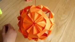 как сделать кусудаму. Классическая кусудама./Modular Origami