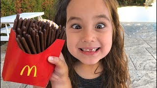 Magic McDonald's Happy Meal! Turns into real chocolate French Fries and a loose tooth