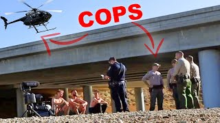 12 cops detained us for doing this...