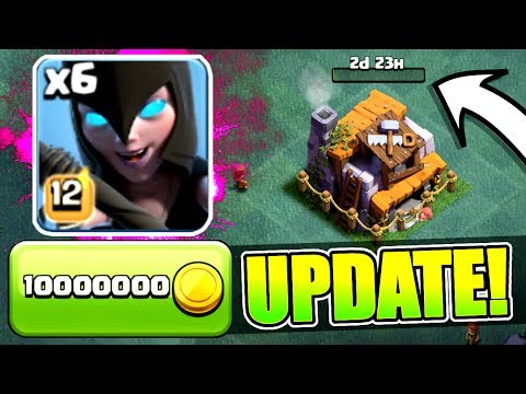 NEW UPDATE GEM SPREE! 🔥 BUILDERS HALL 6, NIGHT WITCH, PEKKA LEVEL 6 🔥 Clash Of Clans