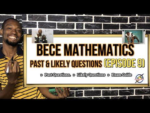 BECE Mathematics Questions & Solutions | Episode 9