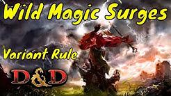 D&D (5e): Wild Magic Surges Galore (Variant Rule)