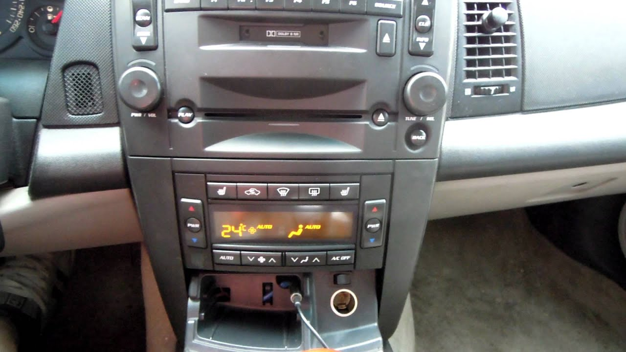 how to aux line in on cts without sat radio [ 1280 x 720 Pixel ]