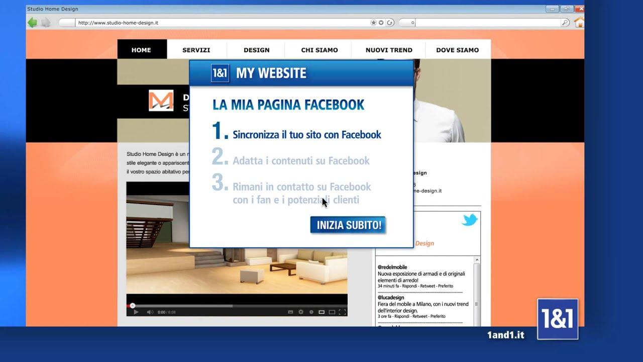Crea il tuo sito web con 1 1 mywebsite youtube for Crea il tuo sito web personale