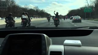 Motorcycles - DC 495 Beltway Southbound - 12/27/15