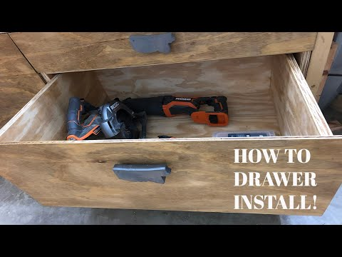 Installing Drawers! - Outfeed/Assembly Table Phase 2 (How To DIY Drawer Build)