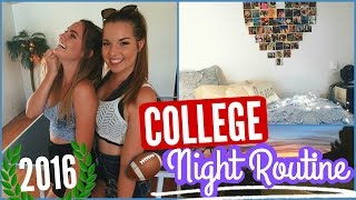 College Night Routine! Back to School 2016
