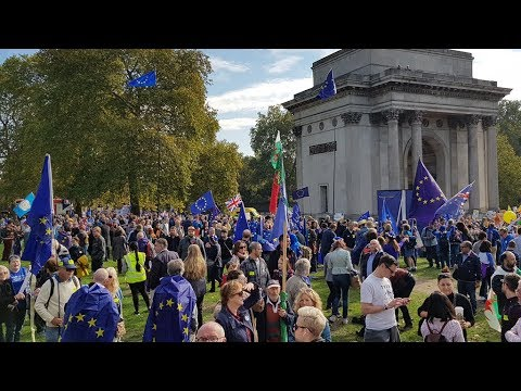 Watch speeches from London as over half a million people march on parliament to protest Brexit