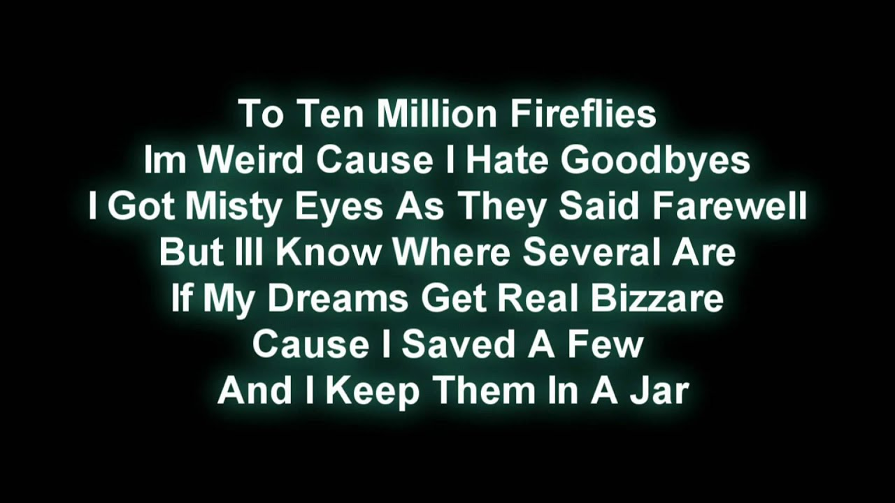 teen firefly lyric