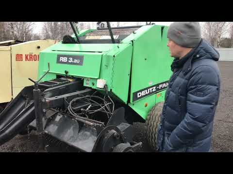 Deutz-Fahr RB 3.20 с Ротором Обзор рулонного пресс подборщика