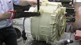 видео Как разобрать барабан стиральной машины