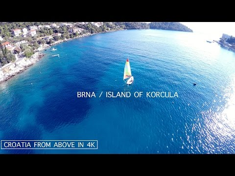 Brna | Island of Korčula | Hrvatska | Croatia | Aerial video | Snimanje iz zraka | 4K