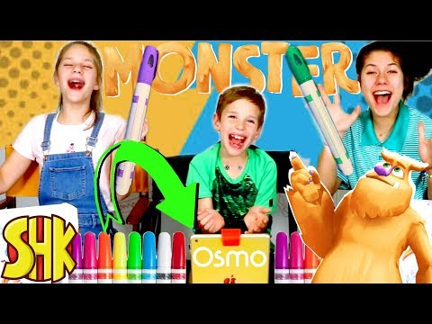 Markers Challenge w/ Digital Monster! With Osmo Monster Game thumbnail