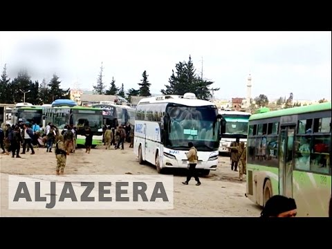 Syria: Evacuation buses leave Madaya, Zabadani for Idlib
