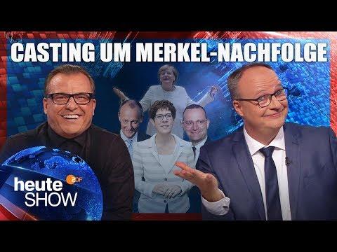 Wer tritt das Erbe von Angela Merkel an? | heute-show vom 09.11.2018