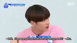 Indo Sub  Produce X 101 Ep. 4 | Boss' Team  Yellow Pink  Cut