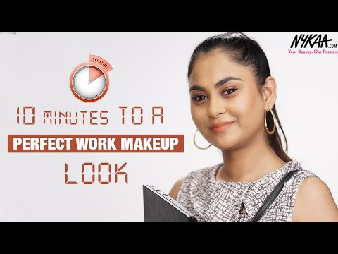 Step By Step Easy Office Makeup Look In 10 mins ft. Neha Desai |  Nykaa