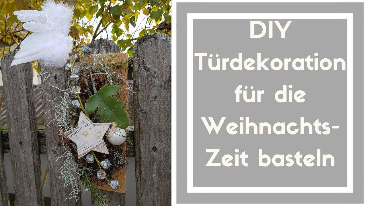 Turschmuck Selber Machen Wanddekoration Weihnachten Auf Holzbrett