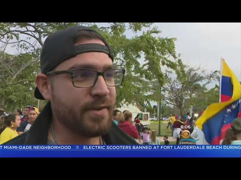 Venezuelans In South Florida Call For Nicolas Maduro's Ouster
