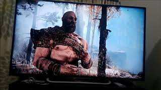 PS4 slim 500GB Unboxing (God Of War test play)