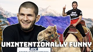 Khabib Nurmagomedov being unintentionally funny..