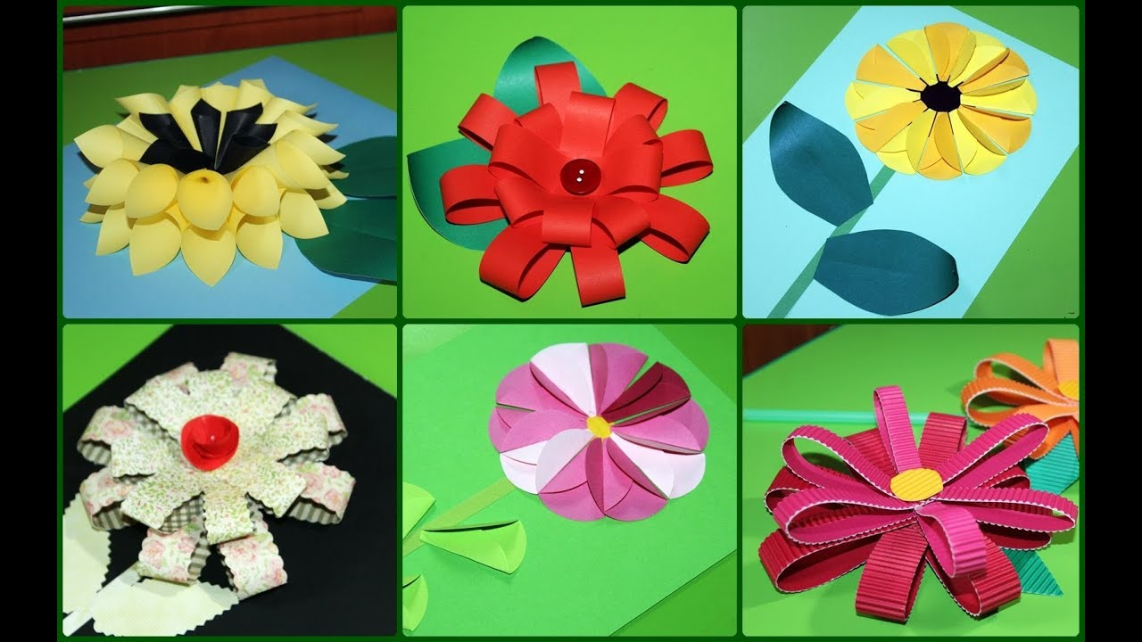 Proste Kwiaty Z Papieru Simple Paper Flowers Mother Day Gift Kids Flowers Simple Greeting Cards Youtube