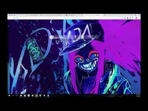 Akali Mask Neon Lol Hd Wallpaper New Tab