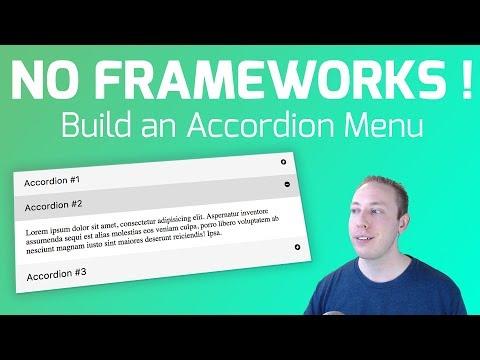 Build An Accordion Menu - No Frameworks Or Dependencies