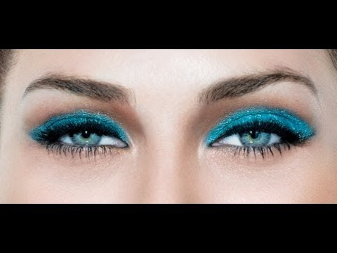 Maybelline Color Tattoo Tutorial! Bright Teal Blue Eye Makeup Tutorial!
