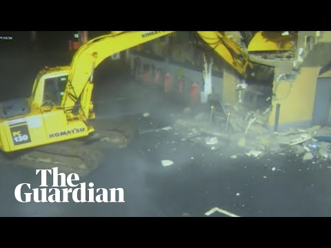 Masked Thieves Use Stolen Digger To Rip ATM Out Of Derry Shop