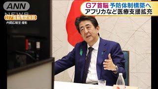 G7の首脳がテレビ会議 医療支援強化で一致(20/04/17)