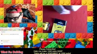 LEGO building Mega Construx Minion Kevin Kubros