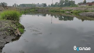 Загрязнение реки Салда с территории бывшего ВСМЗ. Верхняя Салда, 9 августа 2021