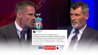 Carragher & Keane's BRUTAL reaction to Fulham Director of Football's tweet 👀 | Monday Night football