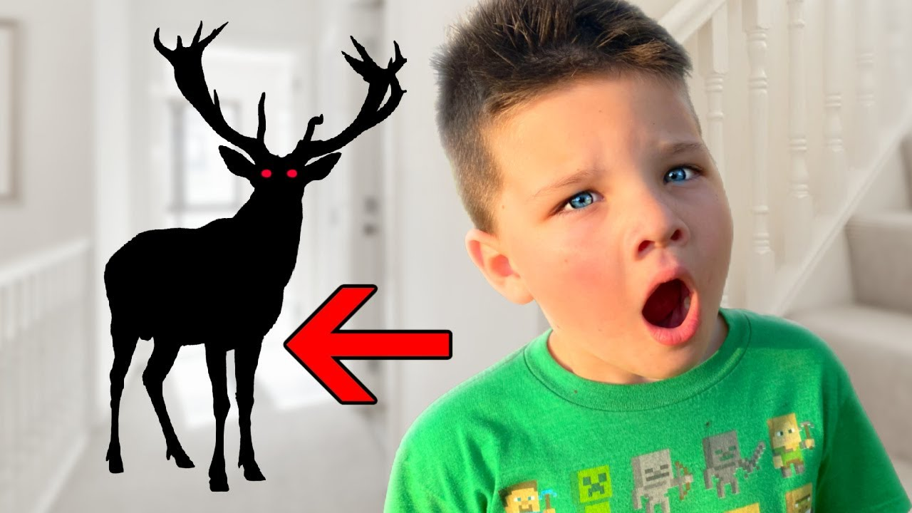 DEER LADY in our HOUSE! CALEB sees THE SCARY DEER WOMAN!
