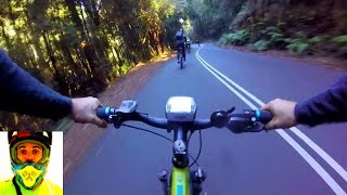 Download lagu Funendlessdownhill road on little Bosch electric bike so much human power MP3