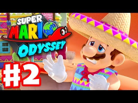 Super Mario Odyssey - Gameplay Walkthrough Part 2 - Sand Kingdom! Tostarena! (Nintendo Switch)