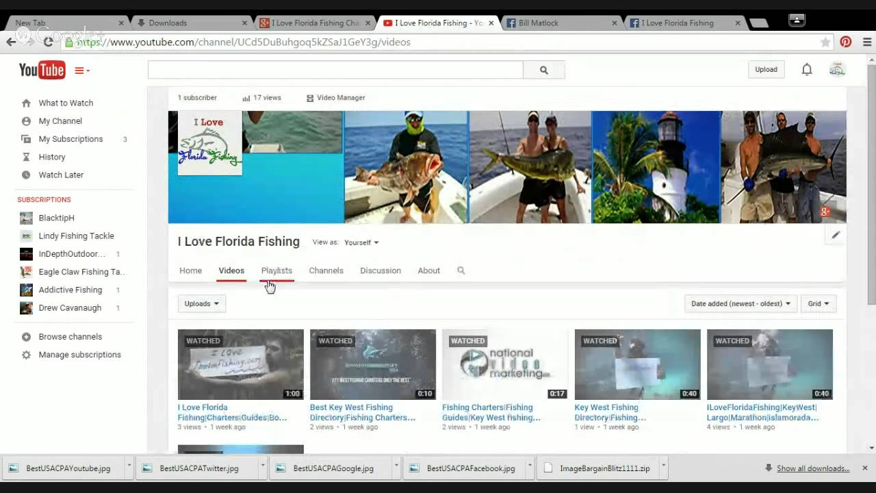 I love florida fishing channel youtube for Fishing youtube channels