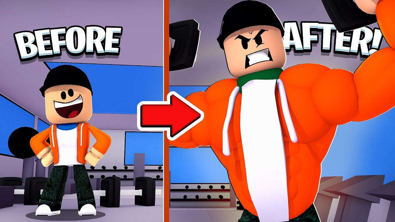 Becoming The Strongest In New Roblox Weights Simulator Youtube