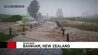 Former Cyclone Gita hits New Zealand, bringing floods and high winds