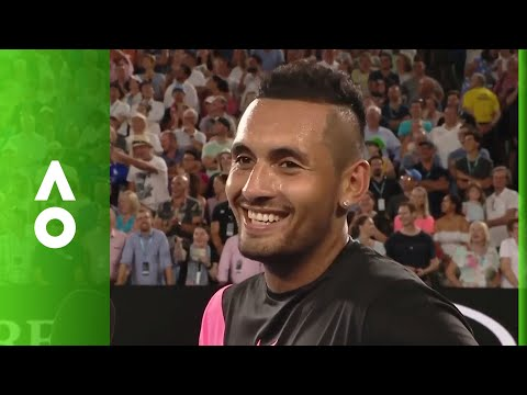 Nick Kyrgios declares love for Will Smith in post-match | Australian Open 2018