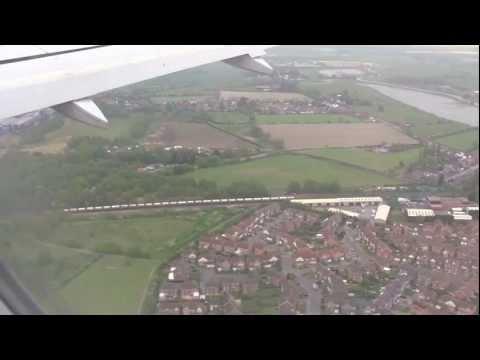 Landing at Robin Hood Doncaster Sheffield Airport - 18th May, 2012 (720 HD)