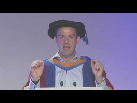 Martin Lewis receives an honorary degree - acceptance speech