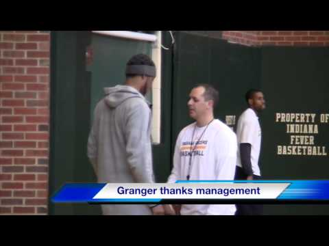 Danny Granger says goodbye to Pacers