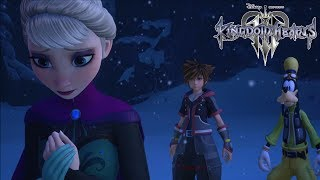 KINGDOM HEARTS 3 - 1st Time on Frozen World Meeting Elsa | PS4 Gameplay